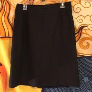 Rex black linen pencil skirt.